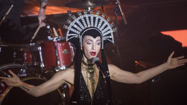 Chrysta Bell at the Avalon Theatre in Hobart.