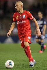 James Troisi during his stint with Adelaide last season.