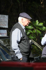 Paul Keating seen on an outing to buy a coffee in Paddington last week.