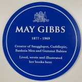 The blue plaque to be unveiled at Nutcote cottage on Saturday.