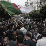 Algerians demonstrate in Algiers to mark the second anniversary of the Hirak movement.