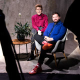 """STC artistic director Kip Williams who is directing 'Playing Beatie Bow"""" with  Kate Mulvany"""