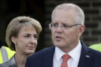 Michaelia Cash with Prime Minister Scott Morrison last year.