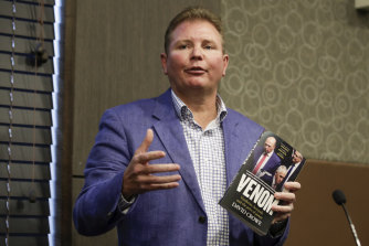 Former Liberal Minister Craig Laundy speaks during the launch of David Crowe's book Venom.