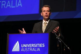 Education Minister Dan Tehan praised universities' response to coronavirus at Universities Australia conference on Wednesday.