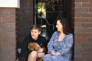 Belinda Barnes and her son Aidan, 13, who is booked in for a Pfizer jab on Tuesday before he returns to school.