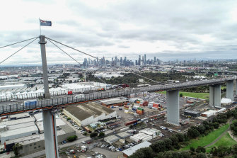 The West Gate Bridge: Not a dumping ground for takeaway meals or red-hot firearms.