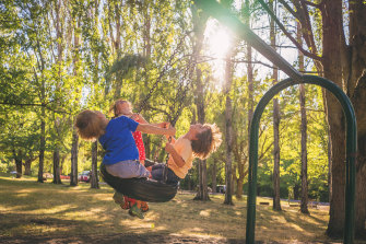 Hanging out in children's playgrounds: the ultimate exercise in surrendering control.