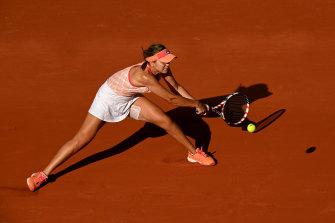 Sofia Kenin en route to the French Open semi-finals.