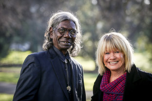 David Gulpilil and Margaret Pomeranz in 2015.