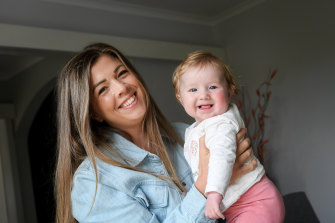 Rachel Caldwell didn't want to change her name when she got married, but she is glad she did now that she has her daughter, Seren.