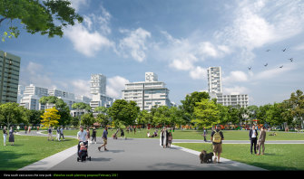 The council is proposing three high-rise buildings, instead of the nine towers suggested by the state government.