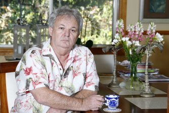 Peter Foster at his home on the Gold Coast on Friday.
