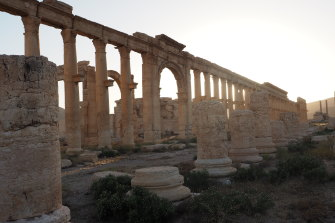 The Grand Colonnade, built in the second and third centuries; noted by UNESCO as an example of Rome's engagement with the East.