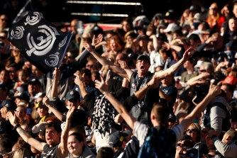 Increased crowds will be allowed at the footy from this Thursday.