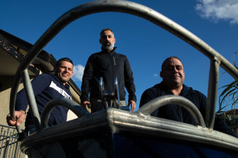 Ahmad Awik, Nasser Farache and  Sam Oweck, went to the scene of a fatal boat accident at Bradleys Head.