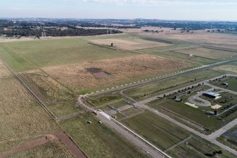 The empty paddock where the Victorian government wants to build a quarantine facility.