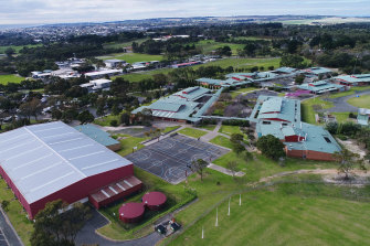 Bellarine Secondary College's Drysdale campus. A lawyer leading a class action over cancer cases says up to 20 former students and teachers may have been affected.