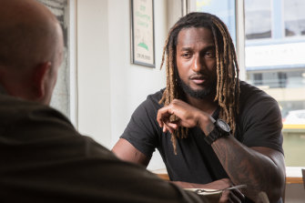 Nic Naitanui at The Lincoln in Carlton.