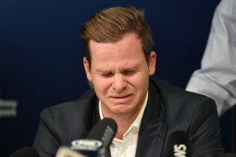Steve Smith after arriving home from Cape Town in the wake of the  ball-tampering saga.