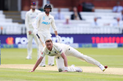 Ollie Robinson took two wickets at Lord's before his day turned sour.