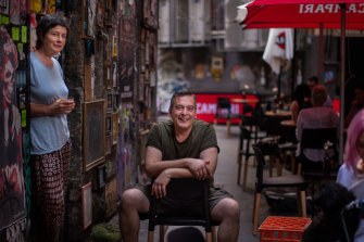 New podcasts by Sophie Cunningham and Christos Tsiolkas take listeners to their favourite places to walk in Melbourne. Shot taken at Bar Americano.