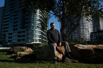 Opal Tower apartment owner Andrew Neverly says owners are struggling financially.