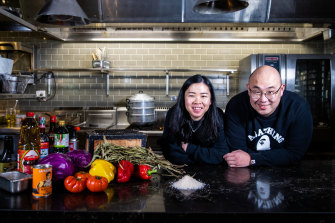 """Grace Chen and Sam Young: """"She's like the lamp guiding the ship and I'm the engine."""""""