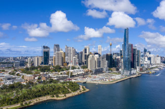 """Central Barangaroo is designed as a """"bridge"""" between the project's headland park and the financial district."""