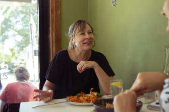 Award-winning musician Amanda Brown at Petty Cash Cafe in Marrickville.