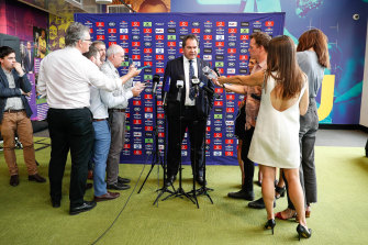 Rennie faces the media in Sydney on Thursday.