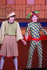 Elliot Cleaves as Minstrel, left,  and Jack Morton as Jester in <i>Once Upon a Mattress</i> Photo: Jenny Watson.