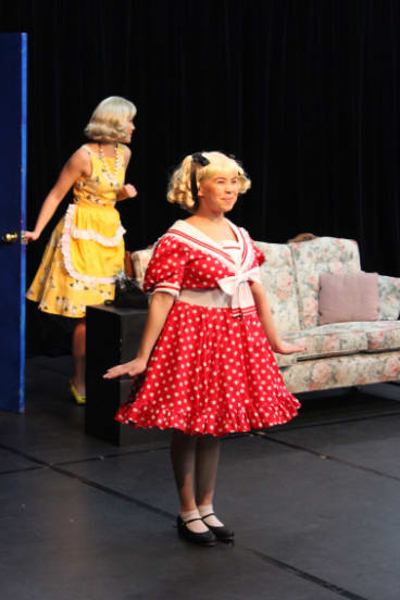 Kristen Zotti, left and Taliah King in <i>Ruthless! The Musical</i>.