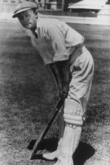 Bradman in 1928 after being selected to play for NSW for the first time.
