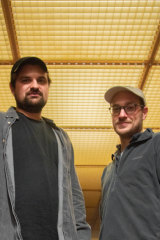 The co-curators of the Berlin Atonal music festival  Laurens von Oswald (left) and Harry Glass.