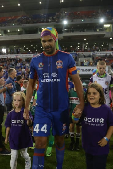 Privileged: Topor-Stanley has relished the chance to lead the Jets in Nigel Boogaard's absence.