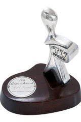 The silver Logie going under the hammer in Melbourne this week.