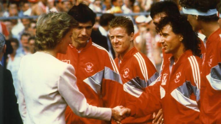 Glory days: Craig Johnston meets Princess Diana before the 1986 FA Cup final.