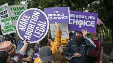 Pro-choice and anti-abortion activists came face-to-face in Brisbane on Sunday.