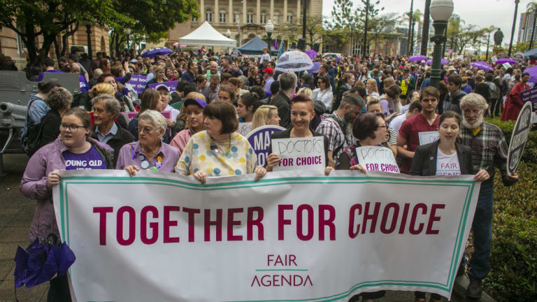 Pro-choice supporters who rallied in Brisbane on the weekend had a victory on Wednesday night, when reforms were passed.