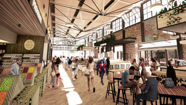 The new markets would reference the old markets with an industrial-style space.