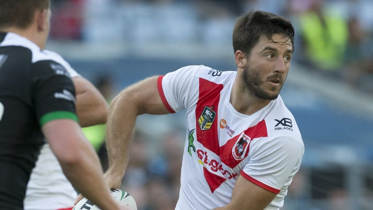Brains trust: Ben Hunt takes on Hull FC for his new club at ANZ Stadium.