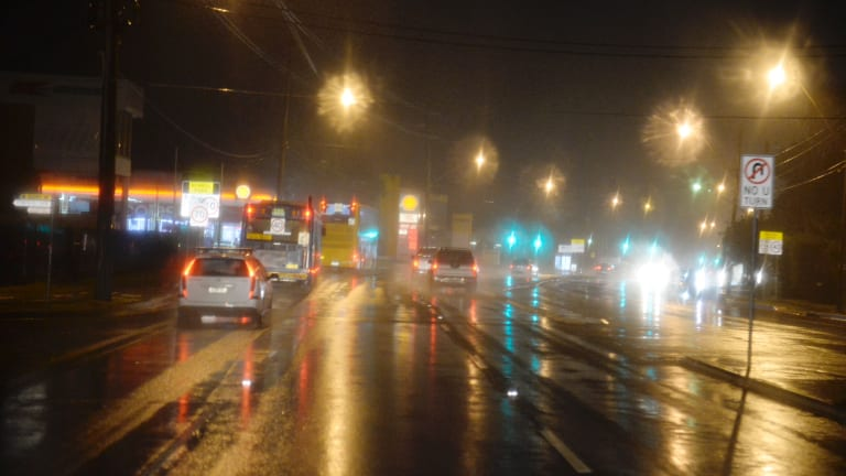 It was a wet start to the week on Monday after weeks of dry weather.