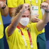 'He means everything to me': Coach Dean Boxall's celebration of Titmus' gold goes viral