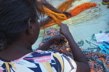Over the next few days, colourful baskets, mats and jewellery started  to take form.