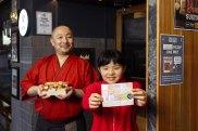 Chef Tomoyuki Matsuya and his daughter Mone who made a map of her fathers chirashi sushi box at Choji Yakiniku in Chatswood,