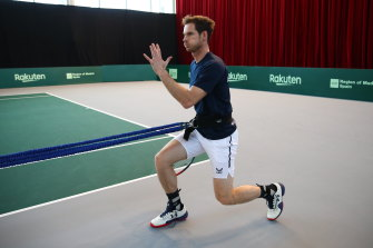 Andy Murray has changed his training schedule because of pelvic bone bruising.