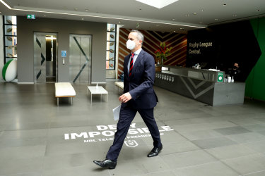 NRL CEO Andrew Abdo at Rugby League Central earlier this month.