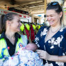 Firefighter delivers baby on the side of the road
