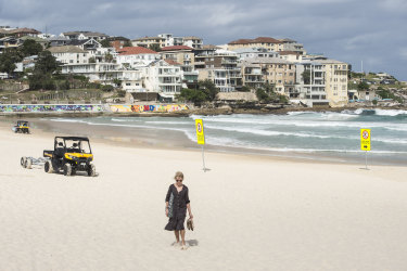 Bondi Beach has been empty since the beach was closed because of crowds violating rules to stay apart.